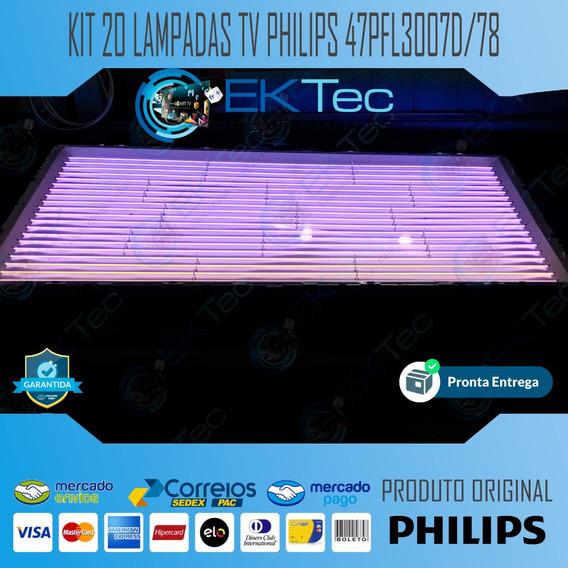 Kit 20 Lampadas Lcd Tv Philips 47pfl3007d/78 Original