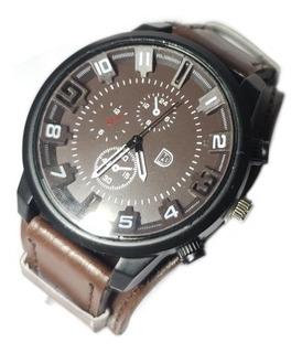 Reloj Pulsera Hombre Malla Eco Cuero Tendencia Moda