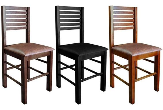 Cadeira Jantar Fixa Madeira Estofada Laguna Cozinha Restaur