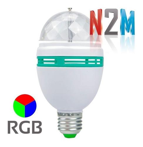 Imagen 1 de 10 de Lampara Led Giratoria 3w Rgb Foco 3 Colores Bolichera