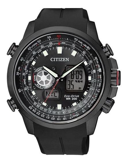 Relógio Citizen Masculino Tz10100p Eco-drive Solar Black