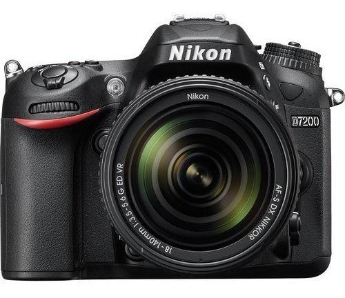 Câmera Nikon D7200 Dslr C/ Lente 18-140mm F/ 3.5-5.6g Ed Vr