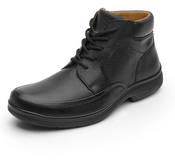 Zapatos Hombre Estilo Botin Vestir Casual 68907 Negro Flexi