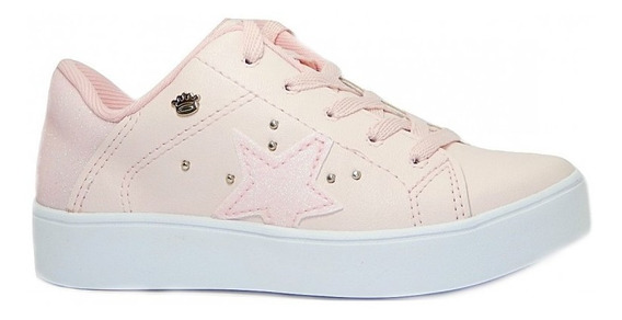 Tênis Pink Cats Meninas Casual V0821 Flatform - Rosa