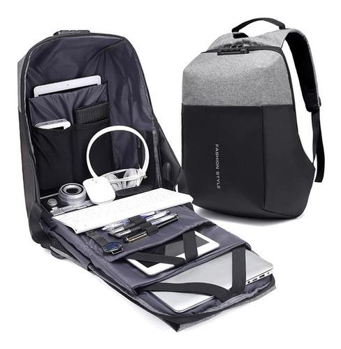 Mochila Antirrobo Con Clave De Seguridad Impermeable Laptop