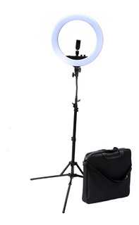 Kit Ring Led Aro Luz Retrato Ø43cm+pie 190cm+ Espejo Visico
