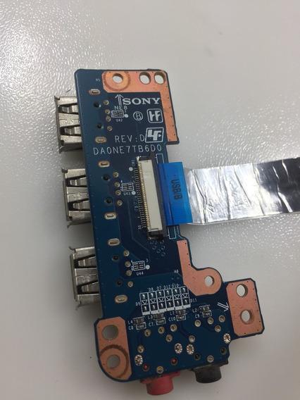 Placa Usb E Audio P2 Notebook Sony Vaio Pcg-61611x