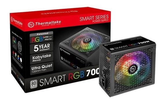 Fonte Atx - 700w - Thermaltake Smart Rgb 80 Plus - Preta - P