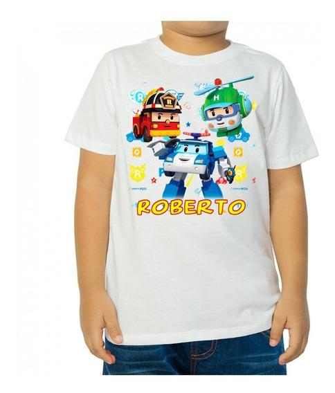 Playera Infantil Robocar Poli Personalizada Fiesta