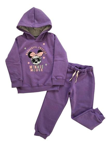 Conjunto Jogging Nena Frizado Minnie. Original Disney