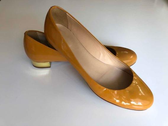 Chatitas Zapatos Charol Marrón Importado Muy Poco Uso