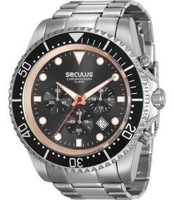 Relógio Seculus Masculino Chronograph Original 13024g0svna1