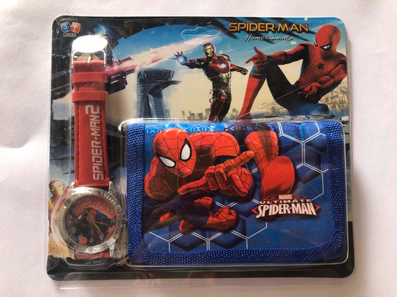 Relógio Infantil + Carteira Homem Aranha / Patrulha Canina