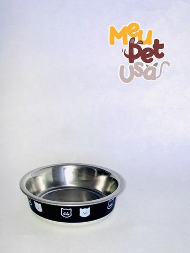 Imagem 1 de 10 de Comedouro Ou Bebedouro  Fusion Preto Para Pet