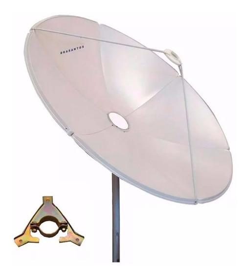 Antena Parabolica Chapa Fechada 150 Cm 1,50m Suporte Lnb Ku