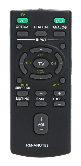 Nova Substituição Remoto Rm-anu159 Para Sony Som Bar Ht-ct60