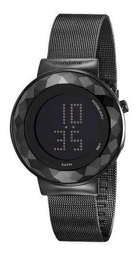 Relógio Mondaine Feminino Preto Led Slim 32006lpmvpe3 Garantia E Nota Fiscal