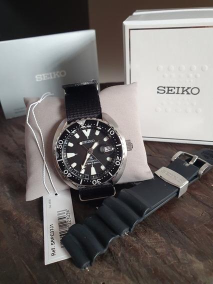 Relógio Automático Seiko Prospex Padi Mini Turtle Srpc37j1