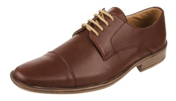 Zapato De Vestir Pizzoni Hombre En Ecocuero Con Puntera