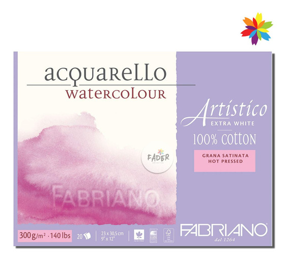 Artistico Satin Fabriano Watercolor 300g 20h 100% ALG. 30x45