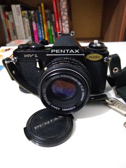 Máquina Fotografica Pentax Mv 1 Extremamente Conservada