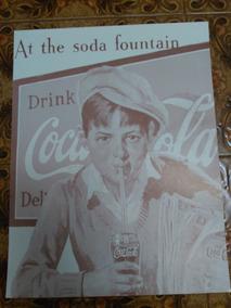 Pôster Antigo Da Coca Cola