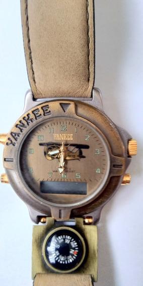 Relógio De Pulso Magnum Yankee - Perfeito Estado - Raridade