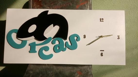 Reloj De Pared, Mdf, Logotipos