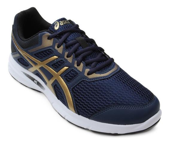 Tênis Asics Excite 5 Azul Dourado Masculino