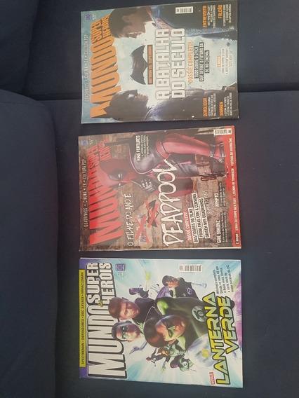 Mundo Dos Super Heróis Lote Com 6 Revistas - Frete Grátis