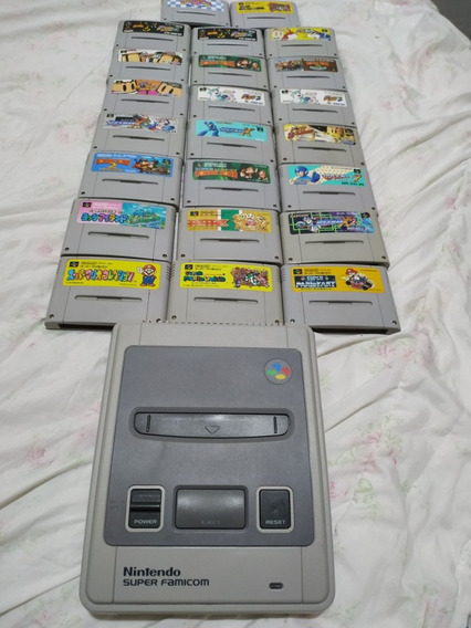 Super Famicom + 23 Jogos Originais Em Ótimo Estado