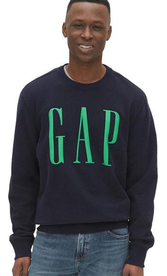 Sudadera Hombre Cerrada Cuello Redondo Logo En Pecho Gap