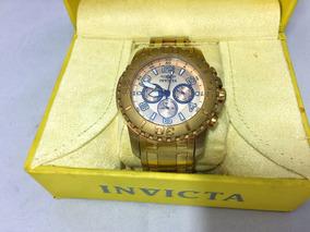 Relógio Invicta Dourado Original Com Caixa Envio Imediato