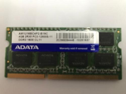Imagem 1 de 2 de Memoria Ram Adata Ddr 4gb 12800s Usada