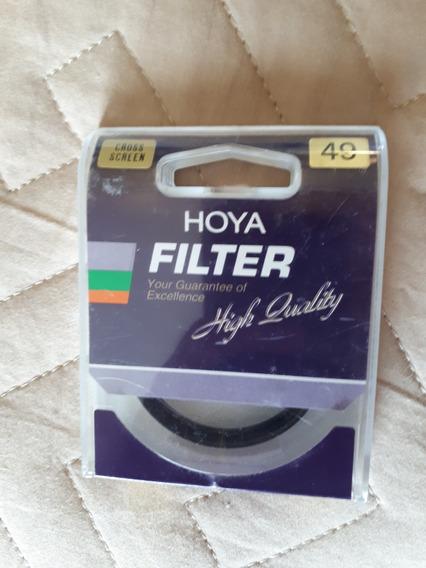 Filtro Hoya Cross Screen 49mm Japan, Usado Apenas Uma Vez
