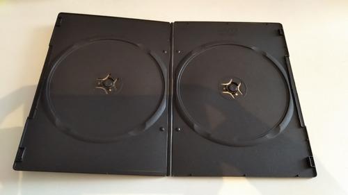 42 Estuches Caja Gruesa Transparente Dvd-r Cd's Doble
