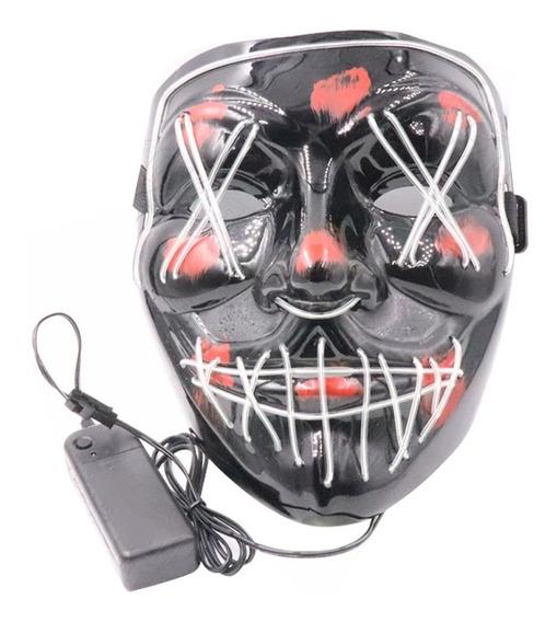 Máscara La Purga Con Luz Led Para Halloween