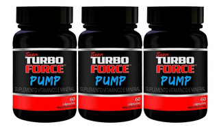 Kit Com 3 Super Turbo Force - Pump - 60 Cápsulas - Intlab