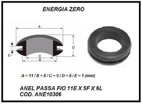 Anel Passa Fio 11e X 5f X 6l Pac 10pcs Cod.ane10306 Frete Cr