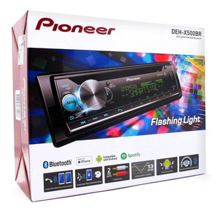 Toca Cd Carro Pioneer Deh-x500br Bluetooth Karaoke Mixtrax