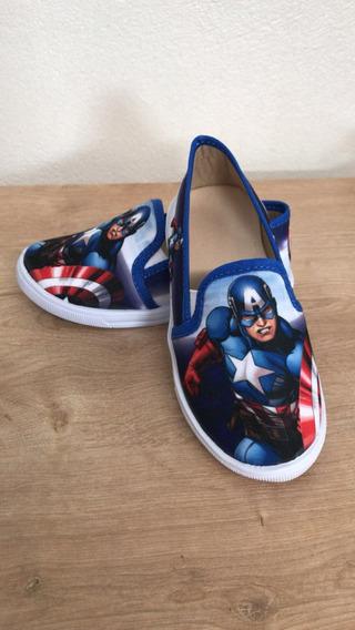 Tênis/ Sapatenis Baby Personagem Capitão América