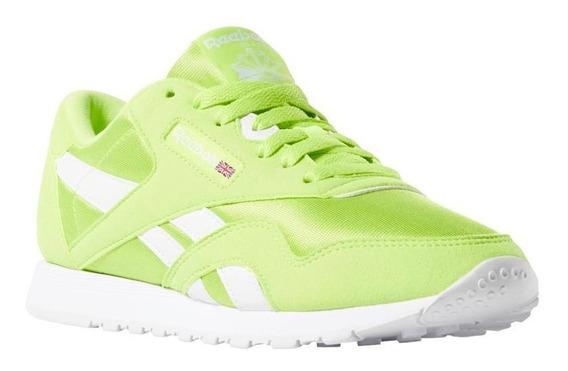 Zapatilla Reebok Cl Nylon Color Neon - 24-cn7449-verde