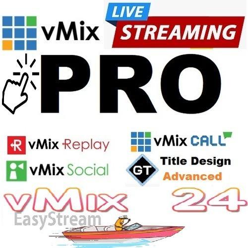 Imagem 1 de 2 de Vmix Pro Original Em 12 X  - Streaming Profissional