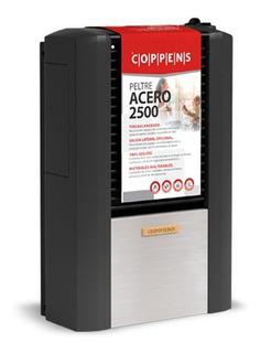 Calefactor Coppens 2500 Tb Derecho Peltre Acero Center Hogar