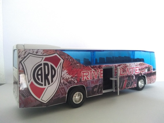 Micro Bus Colectivo River Plate Abre Puertas Metálico 18 Cm