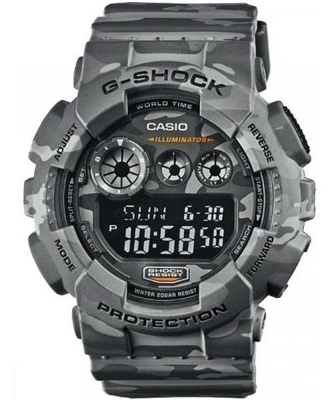 Relógio Casio G-shock Camuflado Gd-120cm-8dr 10897 Original
