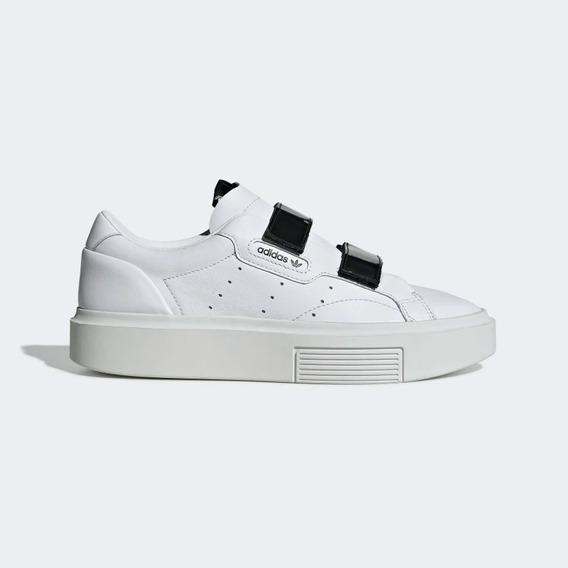Tênis adidas Plataforma Sleek Super Branco Couro