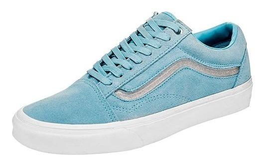 Tenis Vans Old Skool Azul Talla #25½ Mujer Cdl