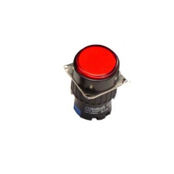 P16-br2-r1 Botão Pulsante Metaltex 220vc - Vermelho