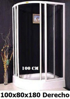 Shower Door Curvo / Cabina De Ducha 100x80cm. 10% Dcto.